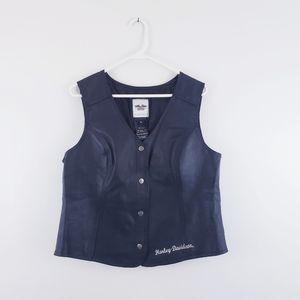 Harley Davidson Women's Genuine Leather Vest